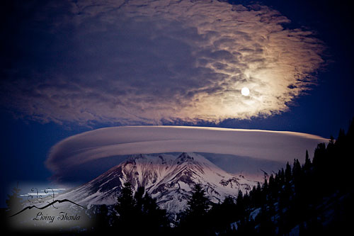 Lenticular over Mount Shasta, CA - Photo by Living Shasta Photography